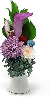 【偲-SHINOBU-】 プリザーブドフラワー 仏花 お供え お盆 彼岸 ギフト 専用 クリアケース 入り 省スペースで飾る新しい プリザ仏花