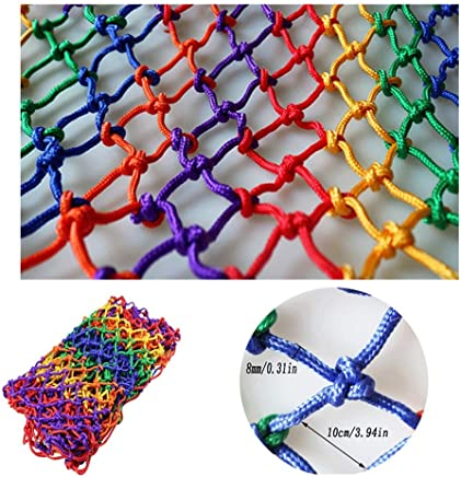 HWJ Children Safety Stair  Child Pet Toy Safety Net Fall Protection Stairs Net Indoor And Outdoor Stairs Balcony Terrace Kindergarten Color Decorative Net Durable Weatherproof 8mm Rope Thick