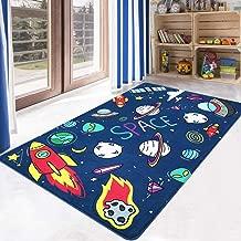 LIVEBOX Kids Play Mat,Space Area Rug Soft Foam Playroom Rug 3' x 5' Non-Slip Childrens Carpet Educational & Fun Throw Rug for Living Room Baby Bedroom Nursery Best Shower Gift