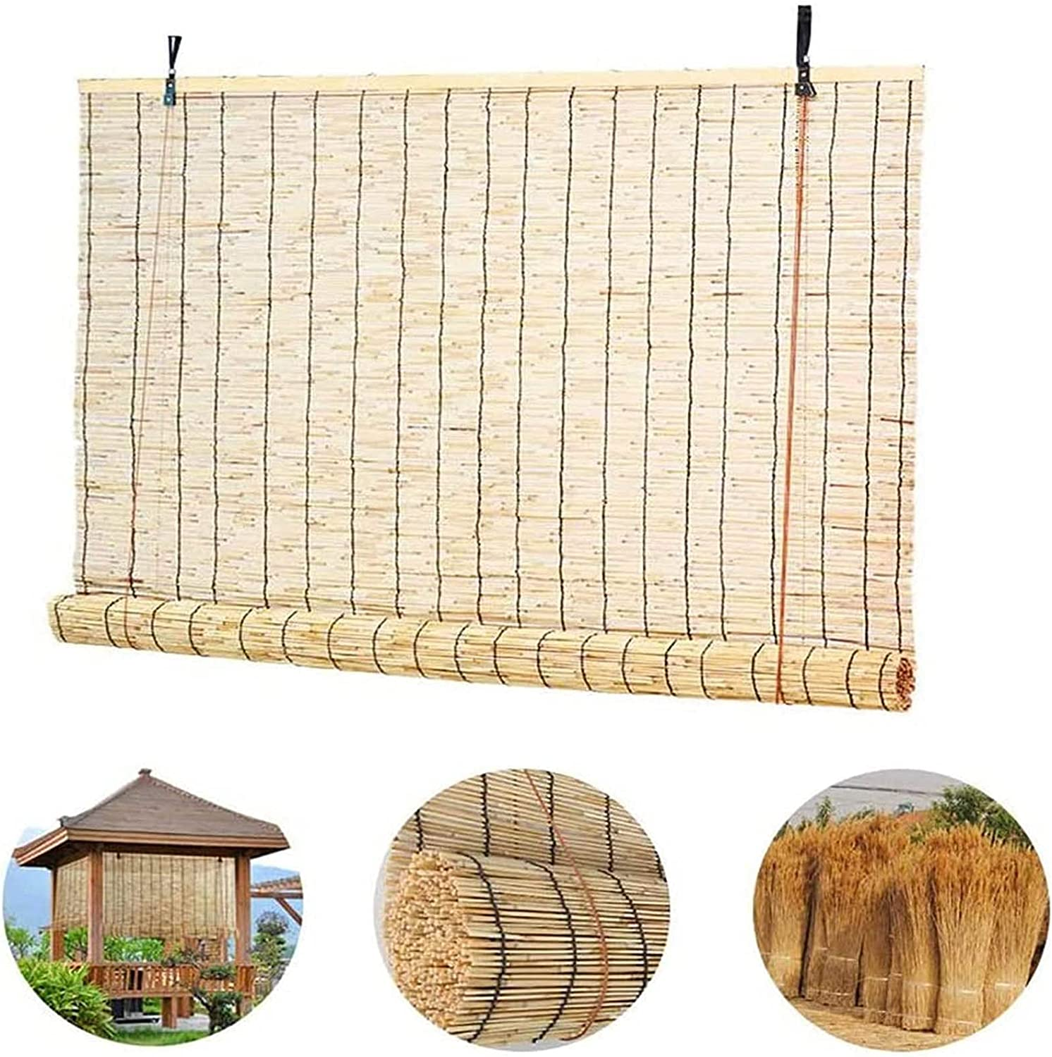 Roll Up Window Blind Deluxe Natural Woven Shades Roller At the price of surprise Bamboo Straw