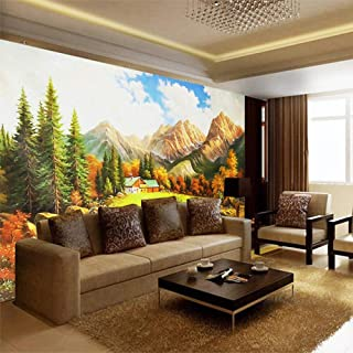 Custom Photo Mural Wall Paper 3D Landscape Oil Painting Fresco Nature Wallpaper Living Room Bedroom Backdrop Wall Home Decor