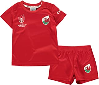Wales Rugby World Cup 2019 Team 2 Piece Baby Kit Red Fan Top Tee Shirt