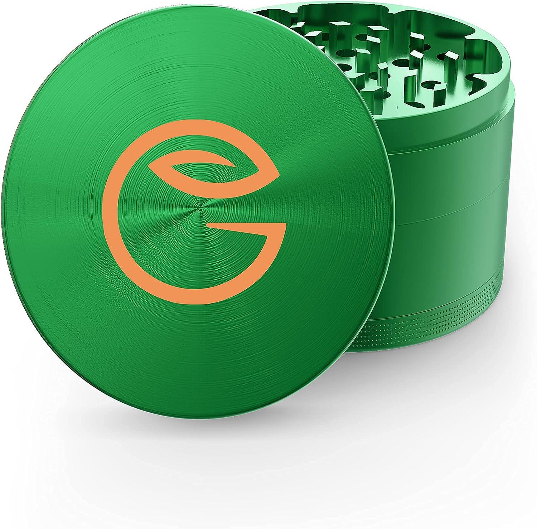 GrindNation Premium Grinder ø 63 mm   aluminio   4 piezas   incluye bolsa y rasqueta   varios colores disponibles (logotipo verde)