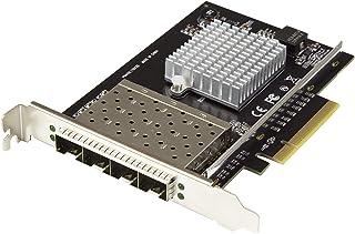 StarTech.com Quad Port 10G SFP+ Network Card - Intel XL710 Open SFP+ Converged Adapter - PCIe 10 Gigabit Ethernet Server N...