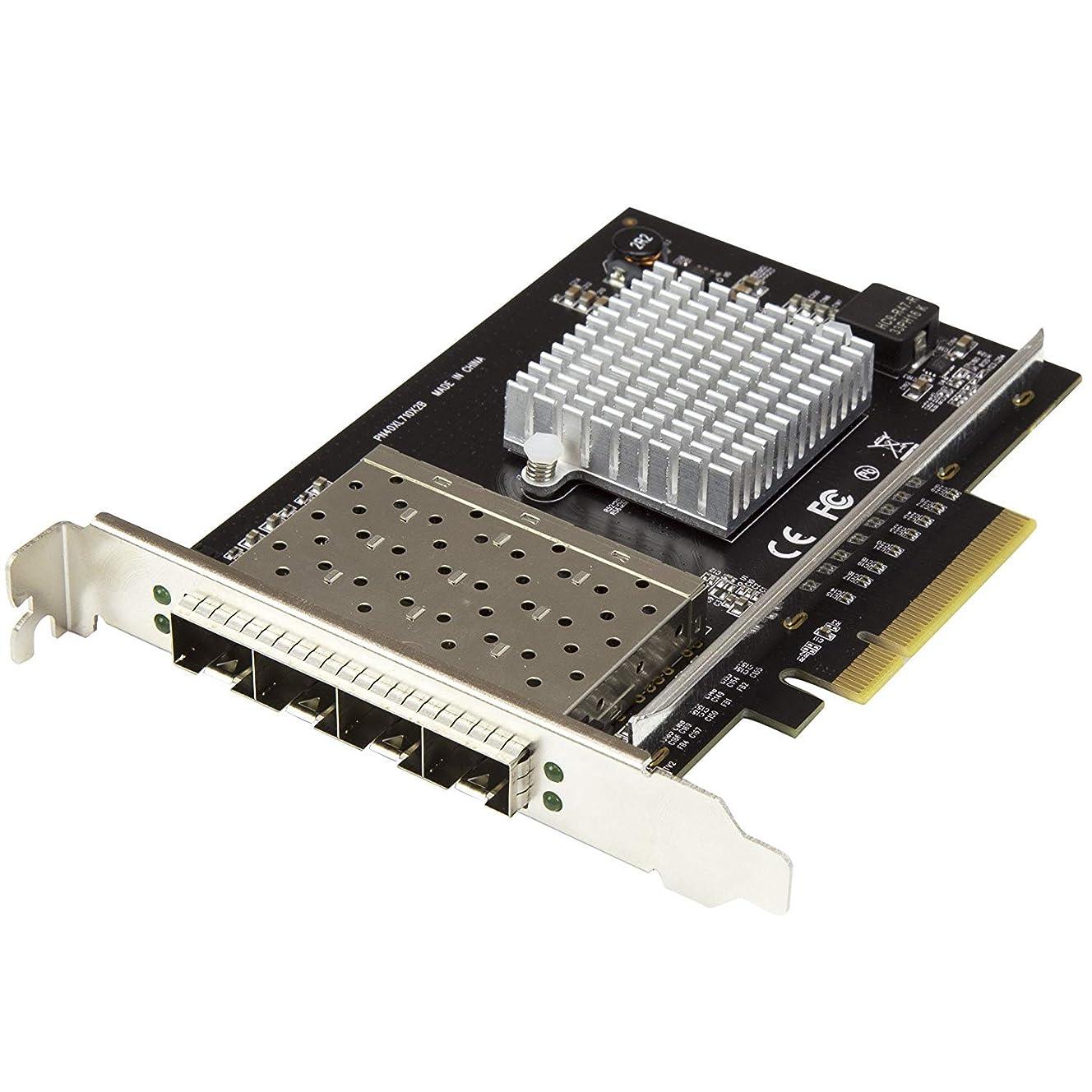 私達艶曲げるStarTech.com 10ギガビットイーサネット対応4ポートSFP+搭載光ファイバーネットワークカード PCI Express接続 Intel XL710チップ搭載 PEX10GSFP4I