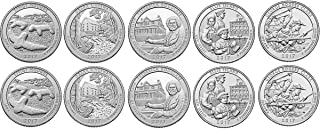 2017 P, D BU National Parks Quarters - 10 coin Set Uncirculated