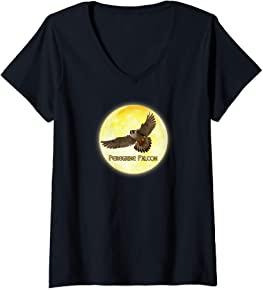 Peregrine Falcon V-Neck T-Shirt