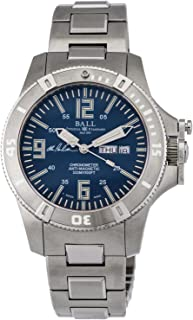 Ball Engineer Spacemaster Captain Poindexter Blue Face Day Date Automatic Mens Swiss Stainless Steel Bracelet Limited