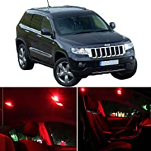 SCITOO Interior LED Lights Red Replacement Fits for Jeep Grand Cherokee 2005-2010 Accessories Package Kit 9 Pcs