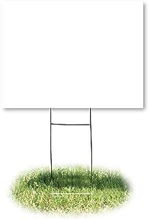 لافتة يارد 4781، فارغة، أبيض، 18 بوصة × 24 بوصة