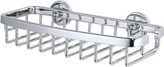 tesa Aluxx klein doucherek, hoogglans verchroomd aluminium, zelfklevend, 50 mm x 220 mm x 102 mm