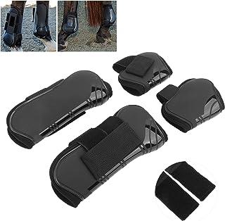 لفافات الساق، مقدمة طبية لرياضات الحصان لتمرين الخيل من أجل قفز الحصان (أسود، مجموعة مكونة من 4 قطع)