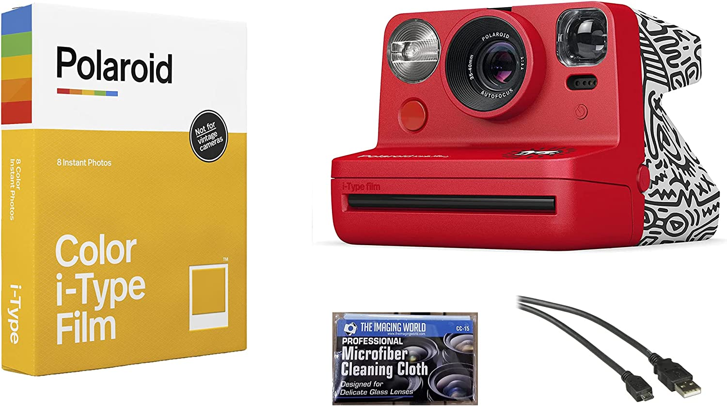 Polaroid Now i-Type In a popularity Max 82% OFF Instant Film Camera Edit Red Haring Keith -