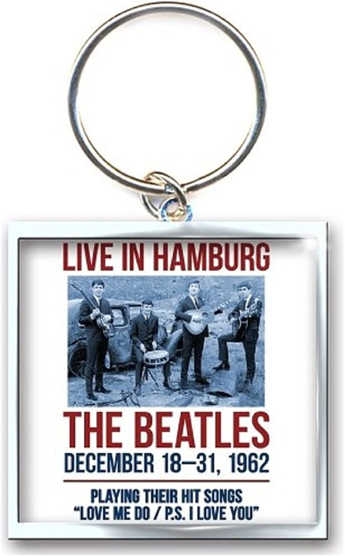 The Beatles Keyring Keychain 1962 Hamburg Poster Officia Size One Size