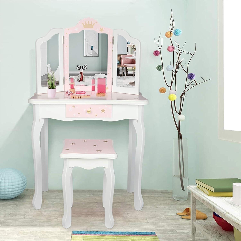 未使用 Kcelarec 5☆大好評 Kids Girl Vanity Table Set Chair and w