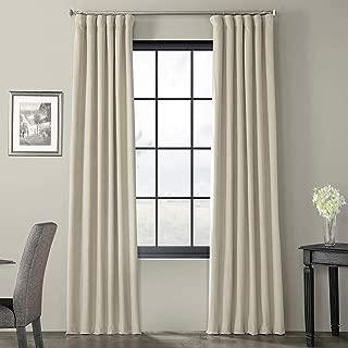 VPCH-160405-120 Signature Blackout Velvet Curtain,Cool Beige,50 X 120