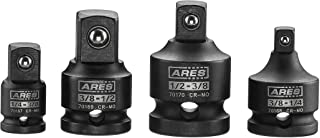 ARES 70008-4-Piece Impact Socket Adapter and Reducer Set – 1/4-Inch, 3/8-Inch &..