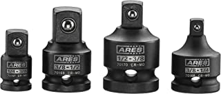 ARES 70008-4-Piece Impact Socket Adapter and Reducer Set - 1/4-Inch, 3/8-Inch & 1/2-Inch Chrome Moly Ratchet/Socket Extension Kit