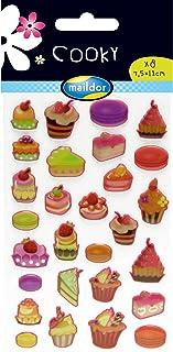 Multicolore 17,5 x 9 x 0,2 cm Maildor CY060O Cooky Plage Tropicale