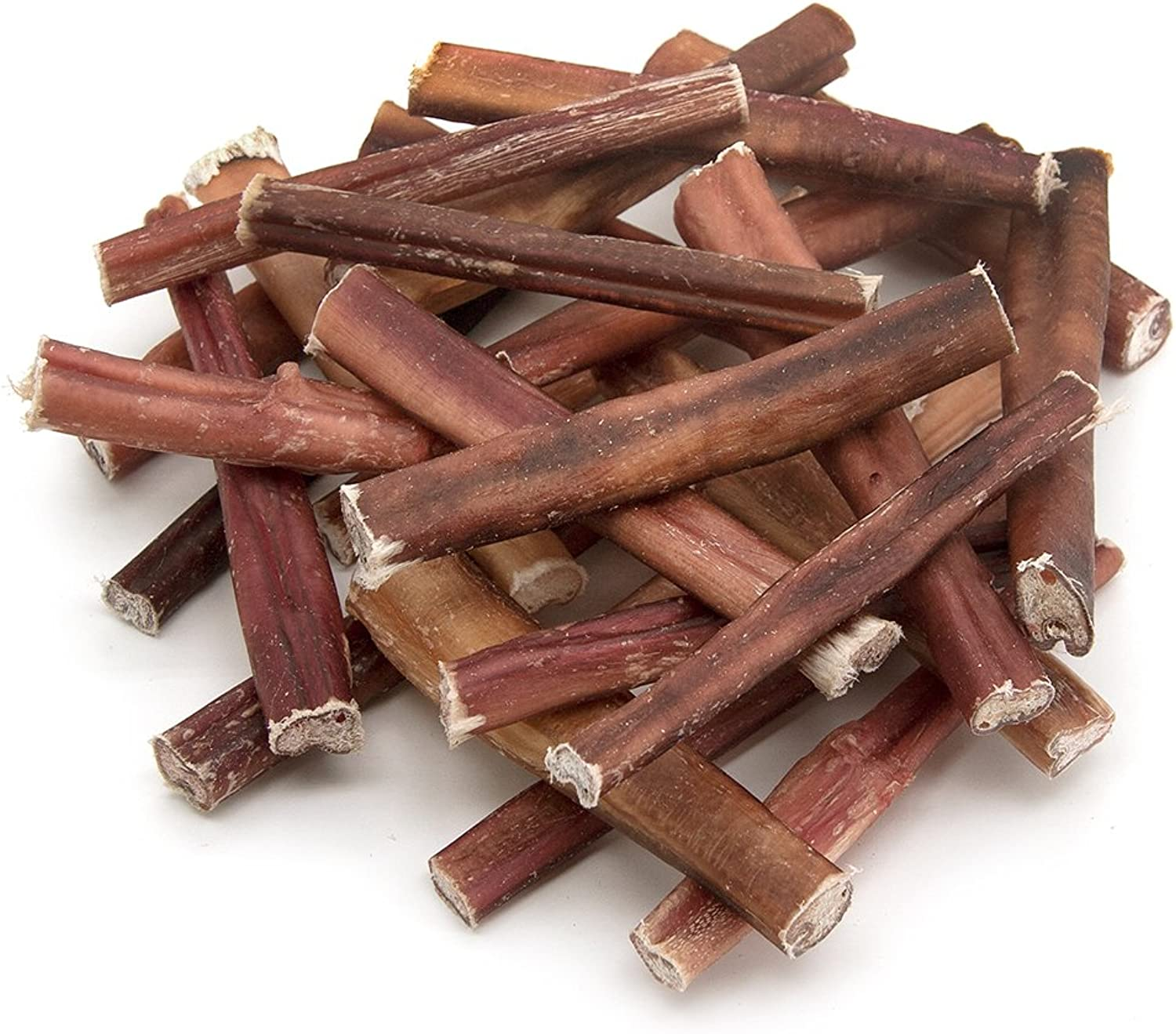 Best Pet Supplies BpsFDA and USDA Certified Thick Plain Bully Sticks6Inch, 25Piece Pack, Odor Free