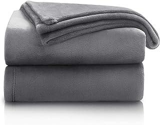 Bedsure Fleece Blanket Twin Size Ash Grey Lightweight Twin Blanket Super Soft Cozy Microfiber Blanket