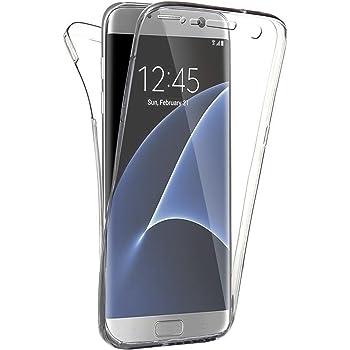 SAVFY 360° Full Case für Samsung Galaxy S7 Edge,Handyhülle für vorne und hinten Schutzhülle aus Silikon Handytasche in transparent,Handy Tasche Etui Hülle