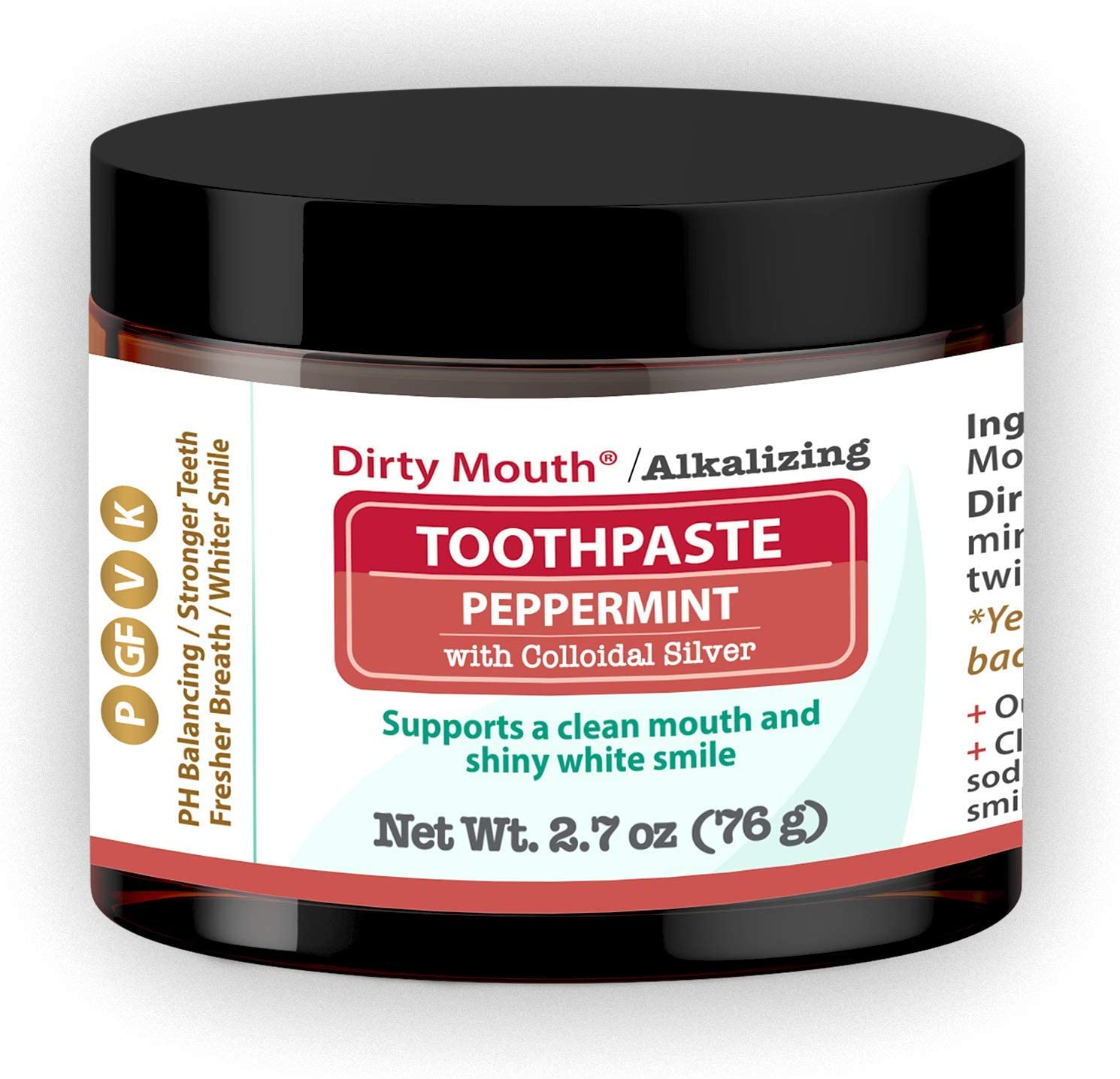 Dirty Mouth Natural Alkalizing Toothpaste Sensitive 2021 Superior spring and summer new an for Teeth