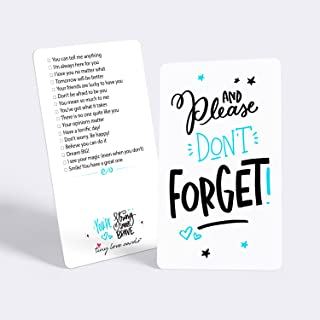 """Tiny Love Cards - Set of 85 Cute Mini """"Don't Forget."""" Inspirational Note Cards - Encouragement, Empowering, Just Because or Lunch Box Notes for Friends, Family, Kids, Students & Office"""