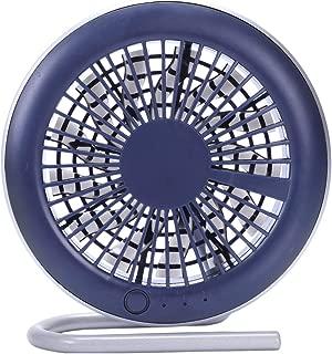SHANGRUIYUAN-Mini Fan Handheld Fan Multifunction Fill Light Mirror Bracket Desktop Fan Mini Fan Portable USB Fan Makeup Props (Color : Blue)