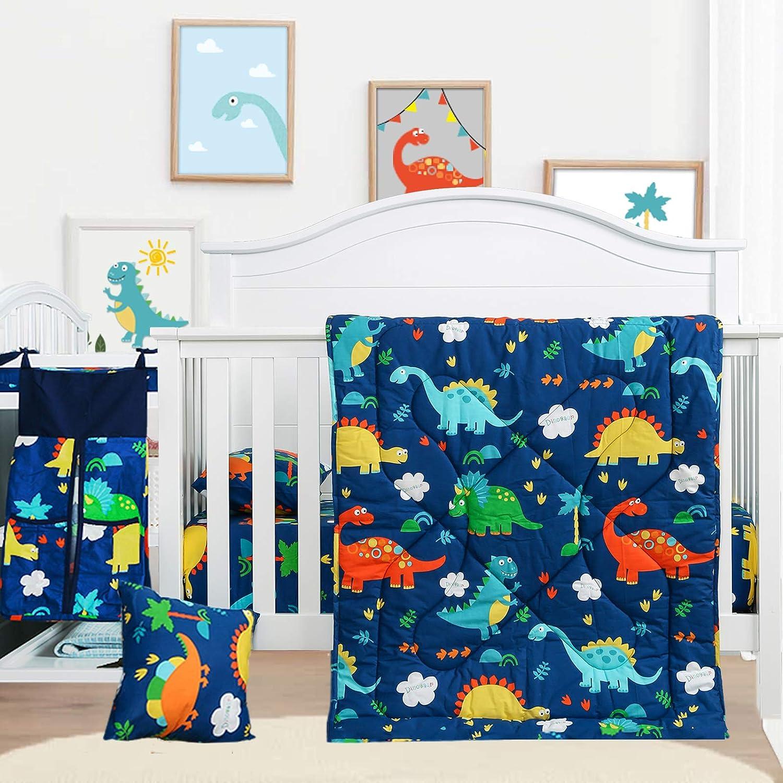 Cloele Baby Fresno Mall Bedding Super-cheap Set-Microfiber Standard 3 Piece Size Dinosau