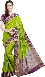 Viva N Diva Sarees Women's Banarasi Art Silk Saree with Unstitched Blouse Piece, Wedding Sari