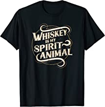 Mens Whiskey Is My Spirit Animal T-Shirt