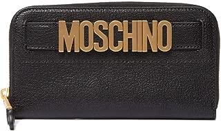 MOSCHINO Leather Zip Wallet Black
