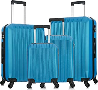 Fridtrip Suitcase With Wheels Luggage Set Carry On Suitcase Set Hard Shell Travel Spinner Suitcase For Men Women Bright Co...