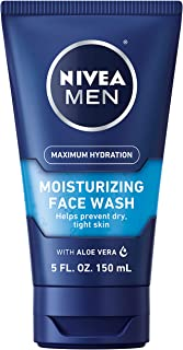 NIVEA MEN Protect & Care Refreshing Face Wash (150 mL), Exfoliating Face Wash for Men with Provitamin B5 & Aloe Vera to Cl...