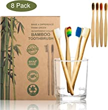 Xpassion Cepillos de Bambú Ecológicos, Set de 8 Unidades Cepillo de Dientes de Bambú Adultos Sin BPA, Cepillos Dentales de Bambú Súper Suave, 100% Naturales, Sostenibles y Biodegradables