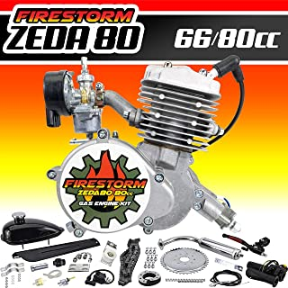 Zeda 80 Complete 2 Stroke 80cc Bicycle Engine Kit – Triple 40 Motorized Gas Bike..