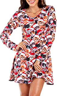 Tipsy Elves Women's Bright and Colorful Ugly Christmas Inspired Holiday Dresses