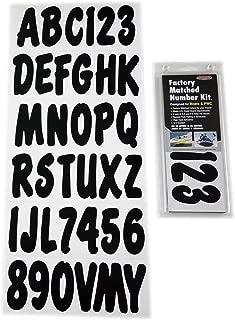 Hardline Products BLK200EC Solid Black Number Factory Matched Registration Kit