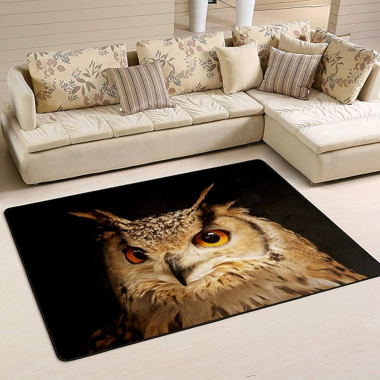 Nashville-Davidson Mall Beautiful Owl Now on sale Indoor Area Rug Carpe Room Living Non-Slip 5'x3'3