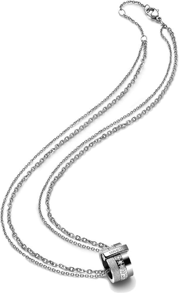 Breil collana da donna in acciaio inossidabile collezione breilogy