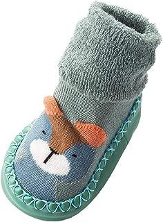 Baby Kids Boy Girl Funky Moccasins Non Slip Indoor Slippers Socks Age 0-6 1 2 3