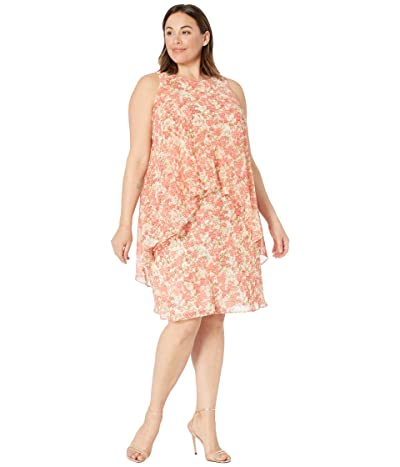 LAUREN Ralph Lauren Plus Size Floral Layered Georgette Dress Women