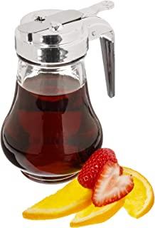Syrup Dispenser, 8oz (240mL) - Glass Bottle No-Drip Pourers for Maple Syrup, Salad Dressings, Honey, Sugar, Oils, Sauces,...