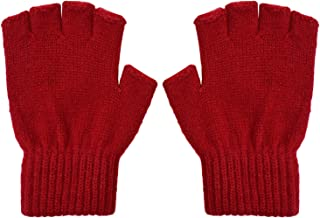 SUNNYTREE Kids Magic Gloves Touch Screen Winter Warm Cashmere Knit