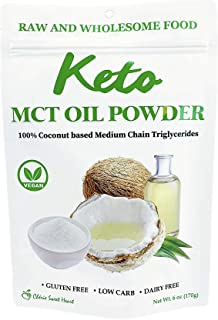 Cherie Sweet Heart MCT Oil Powder, Unflavored, Keto Diet and Vegan Friendly (6 Ounce)