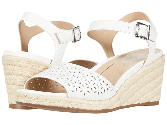 VIONIC  Ariel (White Leather) Womens Wedge Shoes