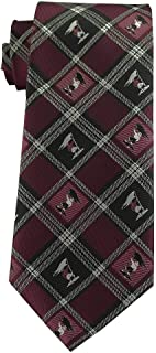 Youth Size Tie for boys age 8-14 Captain Moroni Burgundy Plaid Tie