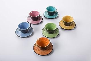 Deagourmet - Tazas de café, color negro y turquesa, 0 unidades