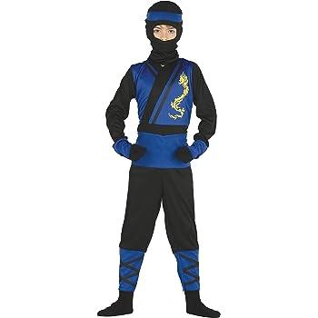 Guirca- Disfraz ninja azul, Talla 5-6 años (87474.0): Amazon.es ...